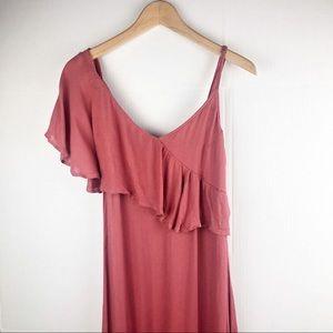 Billabong Dusty Pink one shoulder Maxi Dress   M
